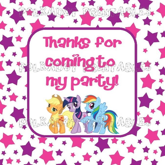 My Little Pony Friendship Is Magic 2 Inch Square Favor Goodie Bag