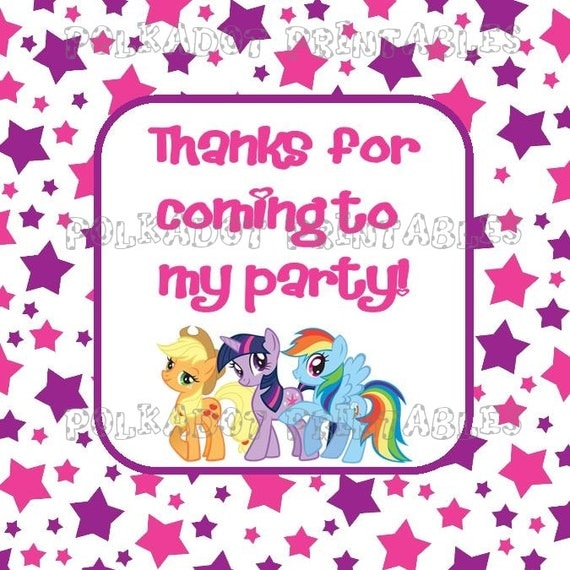 My Little Pony Friendship is Magic 2 Inch Square Favor ...