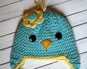 6-12 Month Juniper the Bird Hat -- Ready to Ship