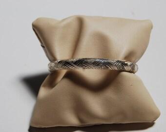 Diamond Etched Sterling Bracelet