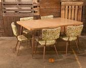 CLEARANCE SALE - Vintage Floral Dining Set  - etsy blog featured -
