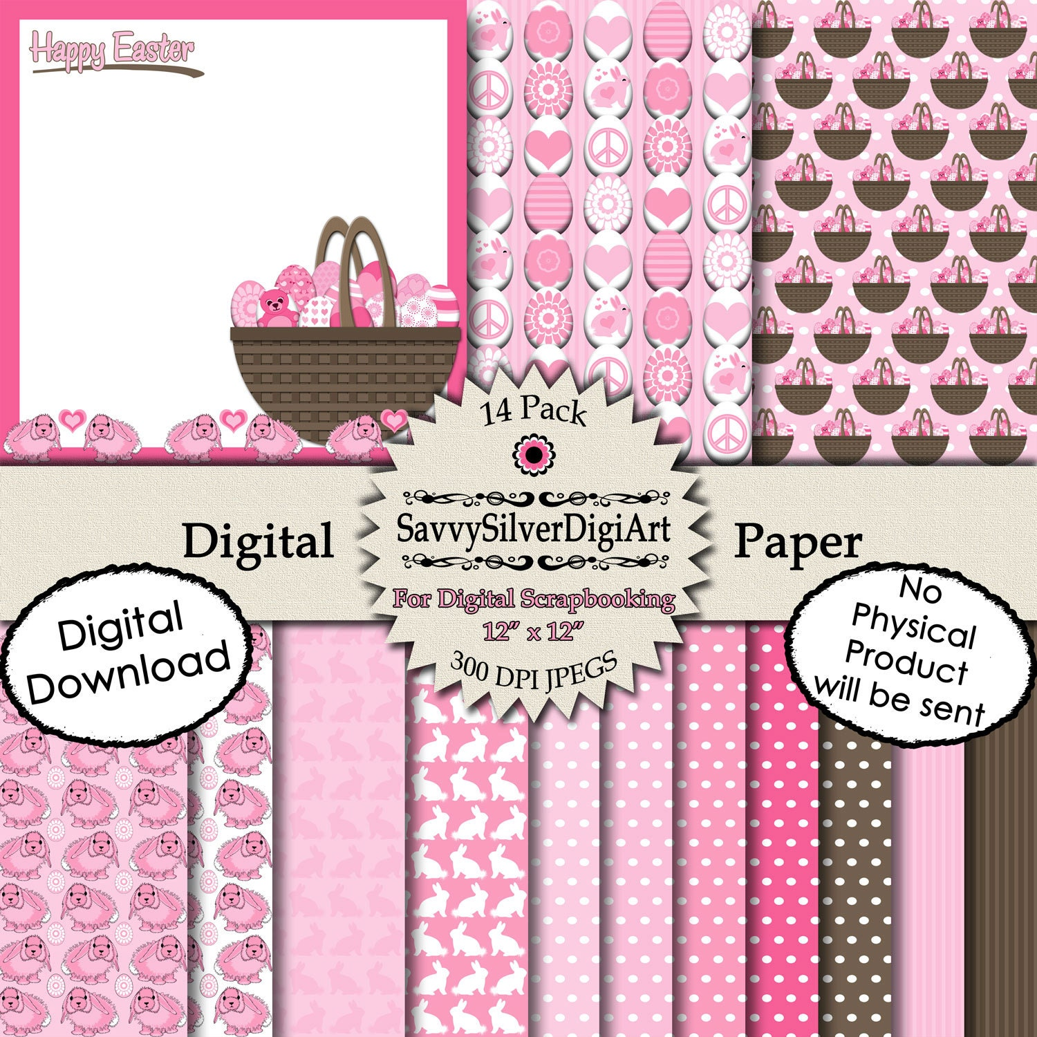 Scrapbook paper easter basket