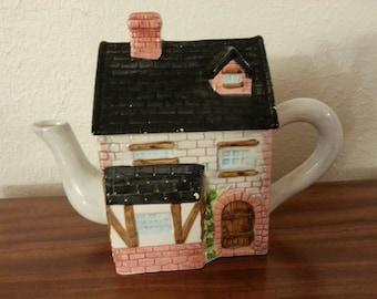 Ceramic House Teapot