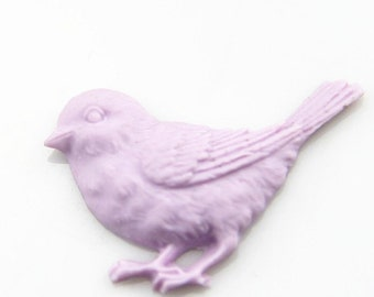 6 pcs of bird resin cabochon 40mm-0891--6-LILAC