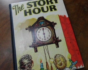 first edition 1940s The Story Hour childrens illustrated book