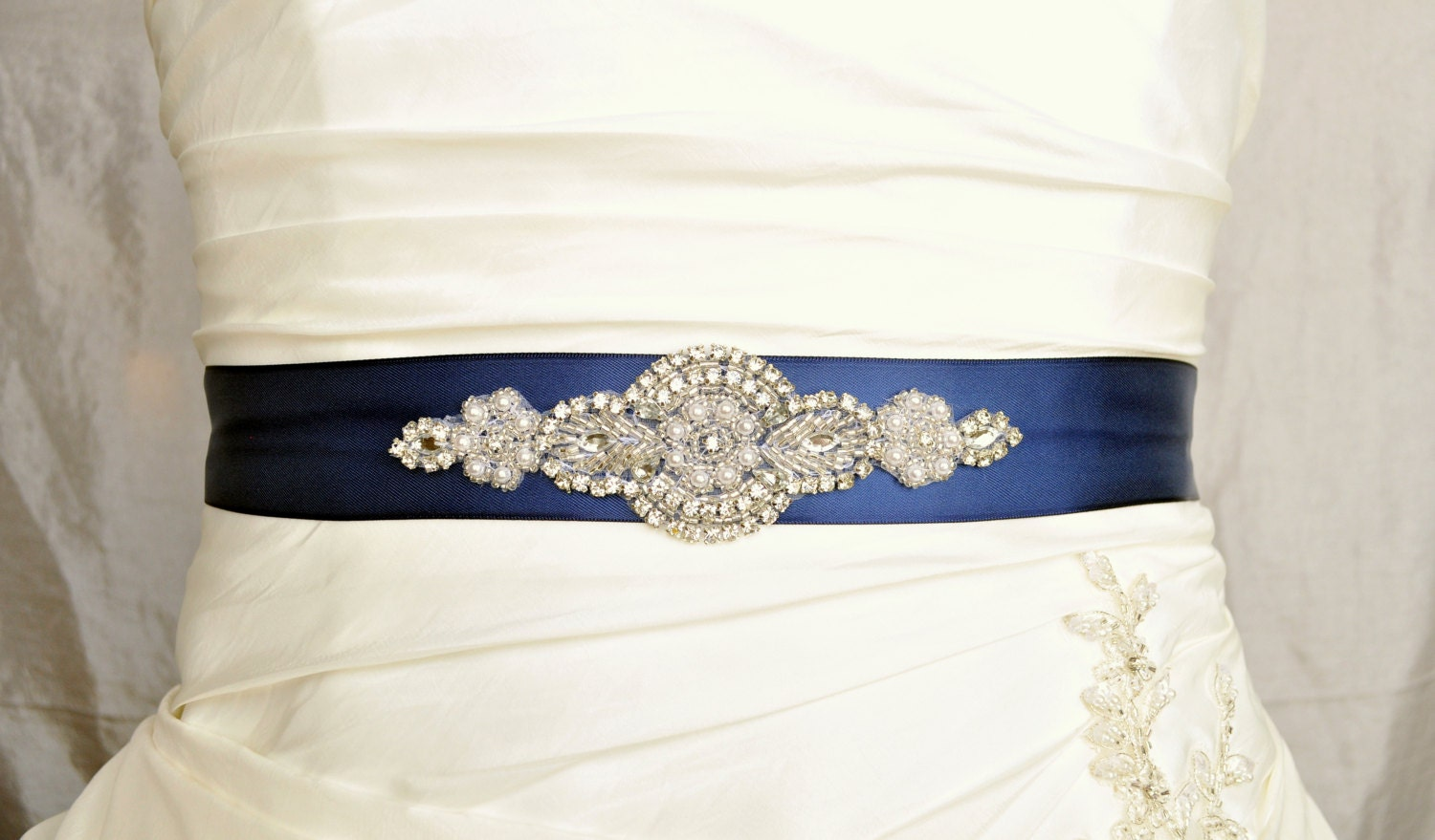 Emma wedding belt wedding sash bridal belt bridal sash for Blue sash for wedding dress