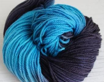 Hand Painted Yarn, Hand Dyed Pure Wool 170 yards, Worsted Weight