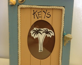 Wood Key Cabinet with Photo Insert