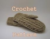PDF Crochet Pattern - Fisherwoman Mittens, Women's - Instant Download