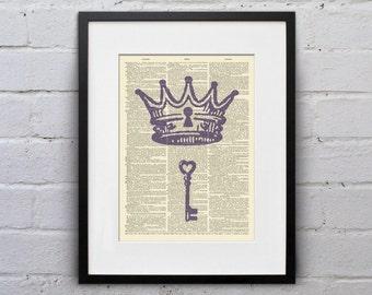 Unlock Your Inner Royal - Dictionary Page Book Art Print - DPUN006