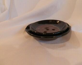 Maroon Draining Soap Dish