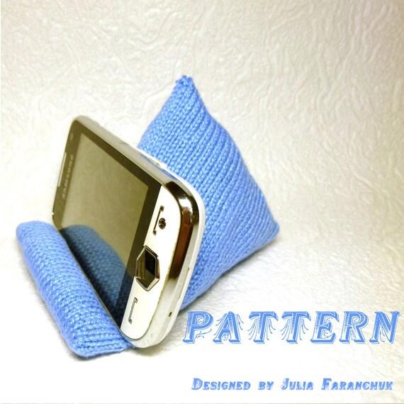 Knitting Pattern Stand : PATTERN Mobile Phone Stand Knitting Pattern