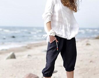 Linen blouse |  Linen shirt | 100% linen | Loos fit | Anysize | Swag style |Sumer style | Europe linen | Bengi design