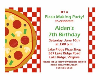 Printable Pizza Party Invitation