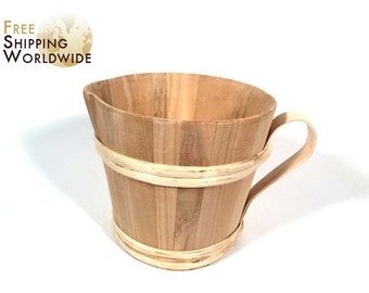 Wooden Mug / Cup / Jug 2 liters / 67.60 fluid oz. volume made from Cherry wood