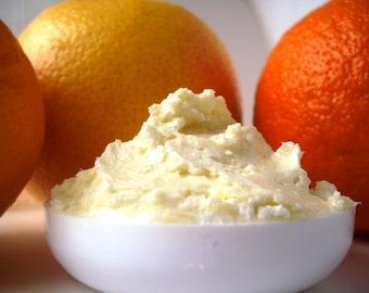 Citrus Body Butter Whipped Shea Butter Cocoa Butter Natural Moisturizer Vegan 4oz