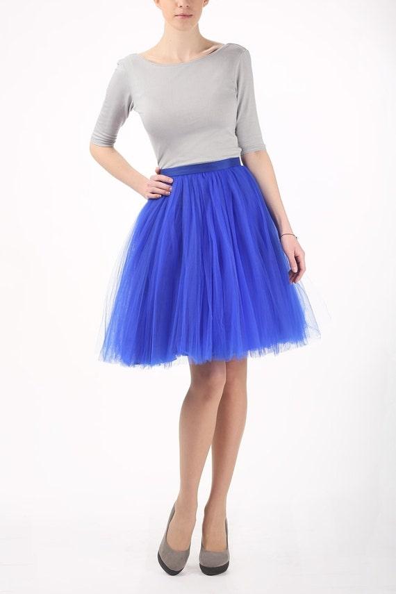Items similar to Blue tutu tulle skirt cobalt petticoat adult tulle skirt on Etsy