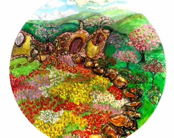 The Shire in Spring Fine Art Giclee Print