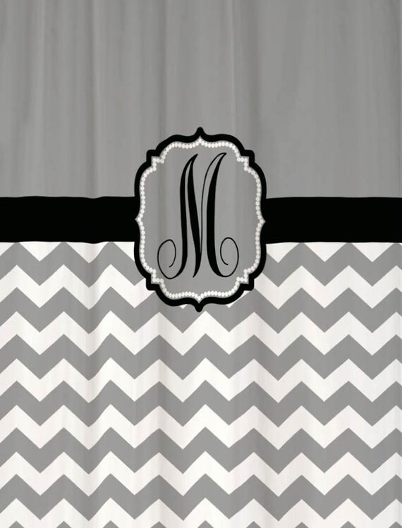 Shower Curtain Chevron YOU CHOOSE COLORS 70 by SwirledPeasDesigns