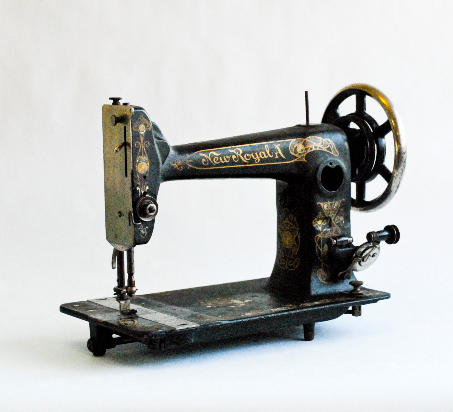 Antique Old Vintage Sewing Machine For Interior Design 1896