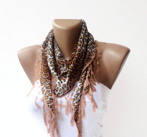 scarf cotton scarves custom design scarf brown by scarfstrends