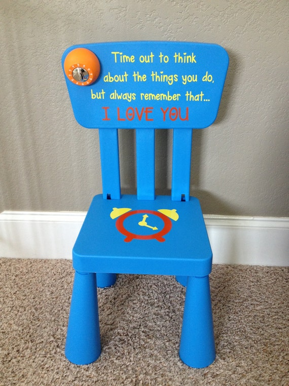 Items similar to personalized time out chair with timer on