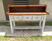 POTTING TABLE from reclaimed wood USA made