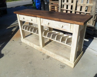 WINE BUFFET from reclaimed wood USA made