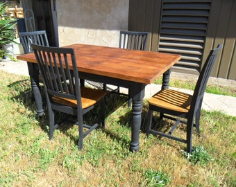 DINING TABLE from reclaimed wood and 4 chairs
