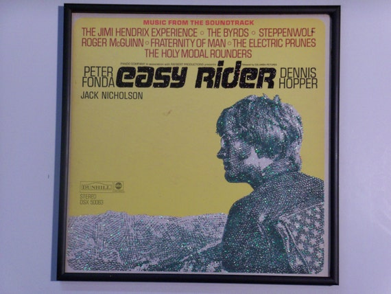 Glittered Record Album - Easy Rider Movie Soundtrack