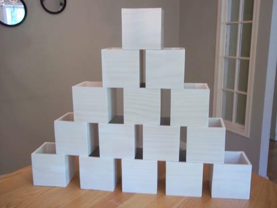 Wooden boxes wedding centerpieces flower organizer