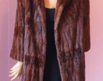 Luscious Summer Ermine Fur Coat, ca Late 1940s / Early 1950s