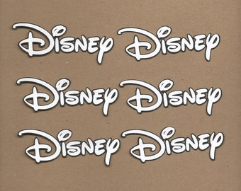 6 1.5 inch tall by 3.5 inch wide Disney Cricut Die Cut