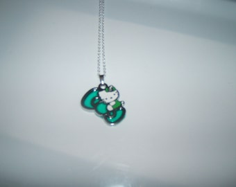 Hello Kitty Green Bow Necklace