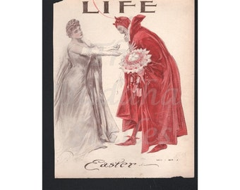 """Vintage Magazine Cover - Life """"Easter"""" artist Henry Hutt (546)"""