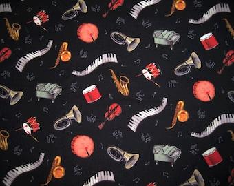 Music  instrument print fabric - half yd
