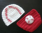Baby Baseball Hat with Matching Diaper Cover