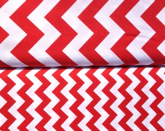 Chevron Riley Blake Small/Medium Chevron red bundle half yard bundle-1 yard total