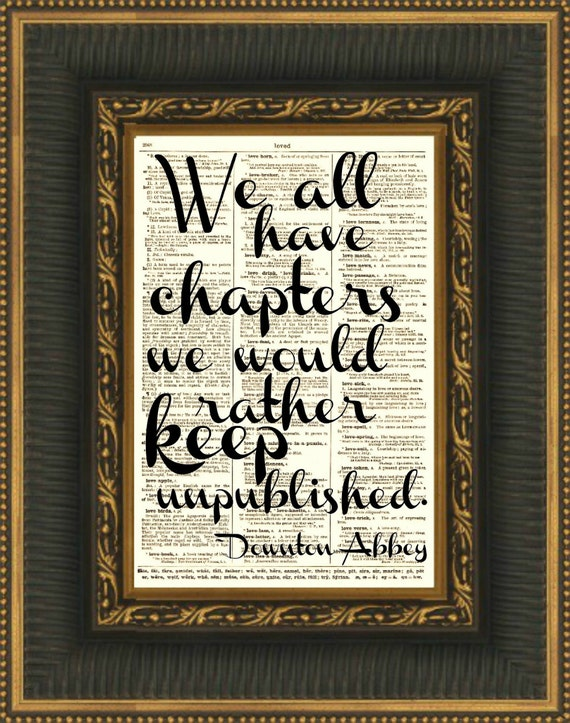 We All Have Chapters We'd Rather Keep Unpublished Wall Decor, Art Print, Wall Art