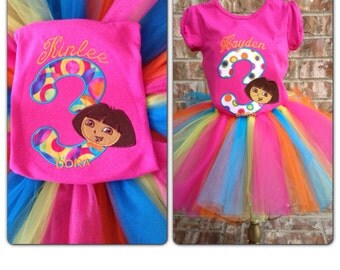 Dora Birthday Colorful Tutu Set