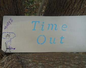 "Children's ""Time Out Personalized Sign"""