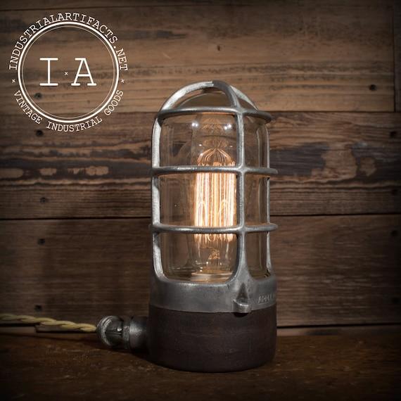 Appleton Light Vintage Industrial: Vintage Industrial Appleton Unilet Explosion Proof Desk Lamp
