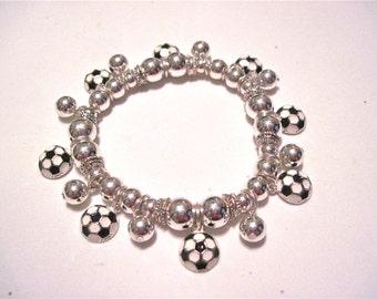 Soccer Charm Bracelet.