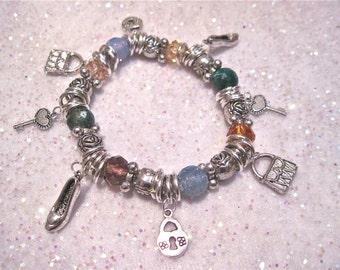 """Charm Bracelet """" Girly Girl """""""