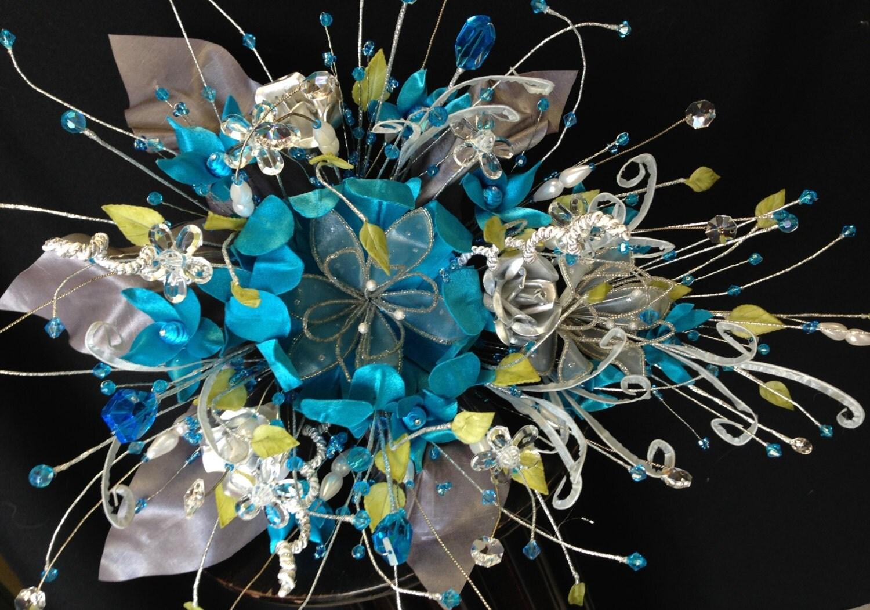 15 Anos Ramos: Ramo Para Quinceañera/ Wedding Bouquet Turquoise/ Bridal