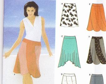 Simplicity 5564  CLEARANCE Vintage Pattern Womens Skirts in 6 Variations Size 4,6,8,10 UNCUT