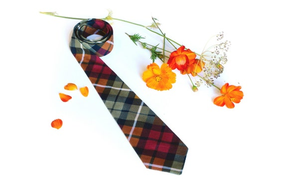 Tie for Boys. Plaid. Red Plaid. Baby tie, gingham tie, little boy, Ready to Ship