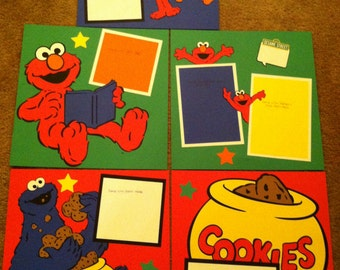 Sesame Street Characters Pre Made 12 x 12 Speciality Scrapbook Album