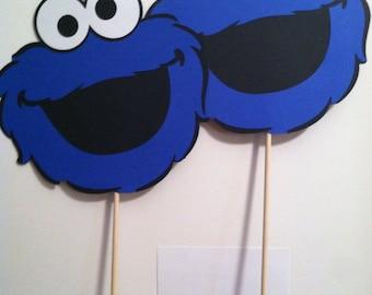 "Sesame Street's Cookie Monster Set of (2) 10"" Centerpiece Picks or Hanging Decorations"