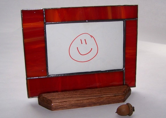 stained glass ruby red picture frame photo frame ruby red. Black Bedroom Furniture Sets. Home Design Ideas